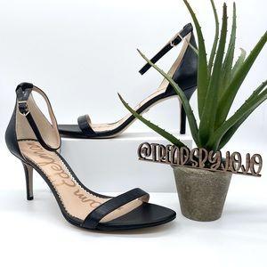 Sam Edelman Patti Ankle Strap Black Heel Sandals